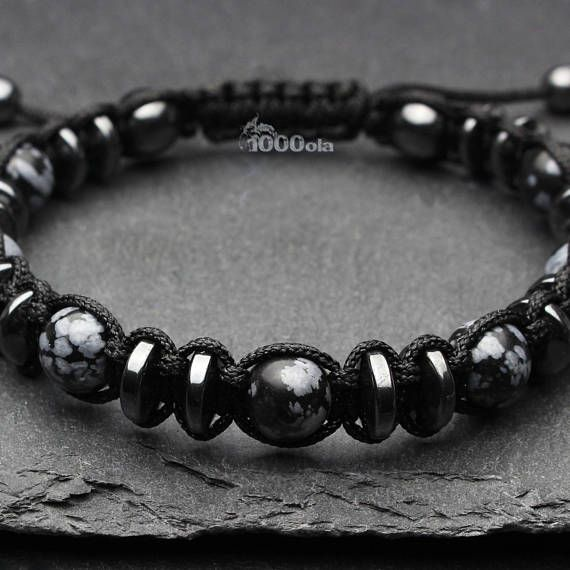 10 mm Black Agate Round Gemstone Beads Noué Collier fait main bijoux