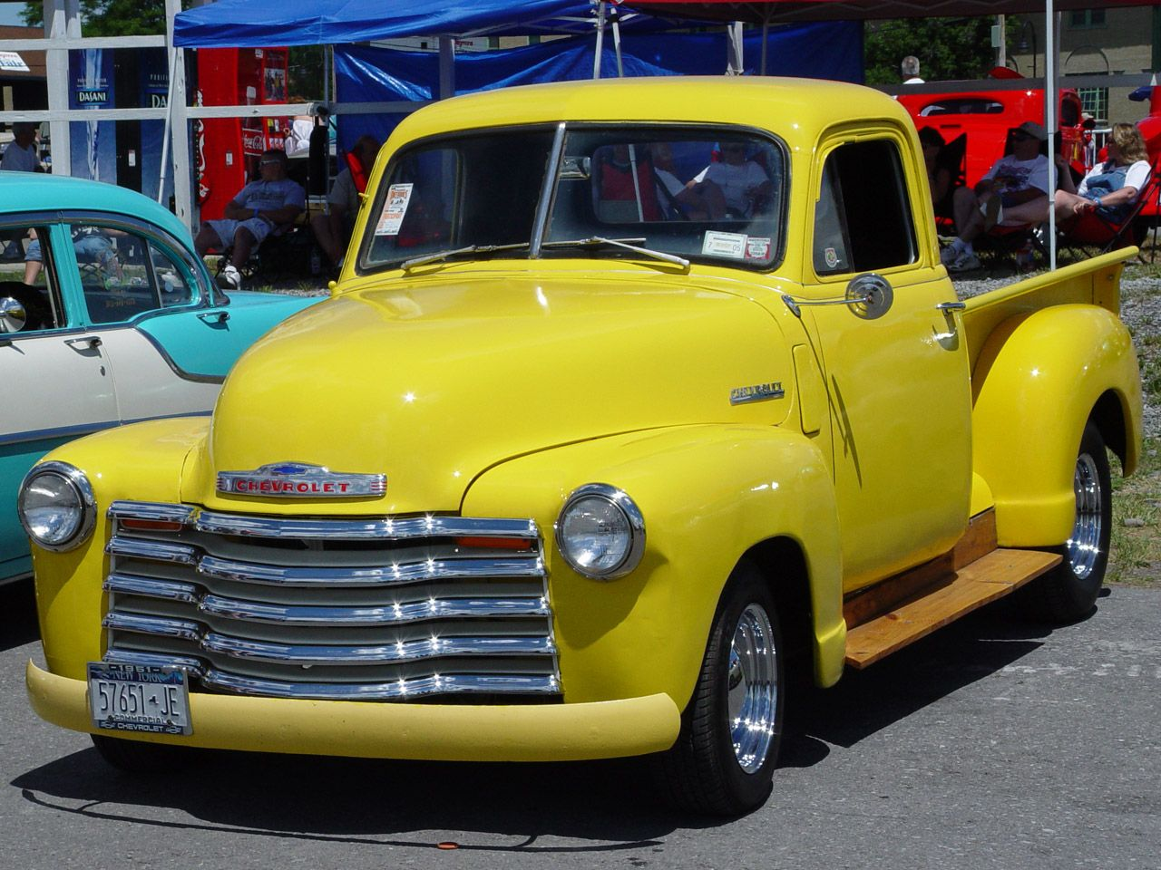 1951 Chevrolet Pickup Yellow Front Angle 1280x960 Wallpaper Chevrolet Pickup Pickup Trucks Gmc Pickup Trucks