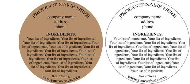 Product Ingredient Labels - Customizable Soap Making Pinterest