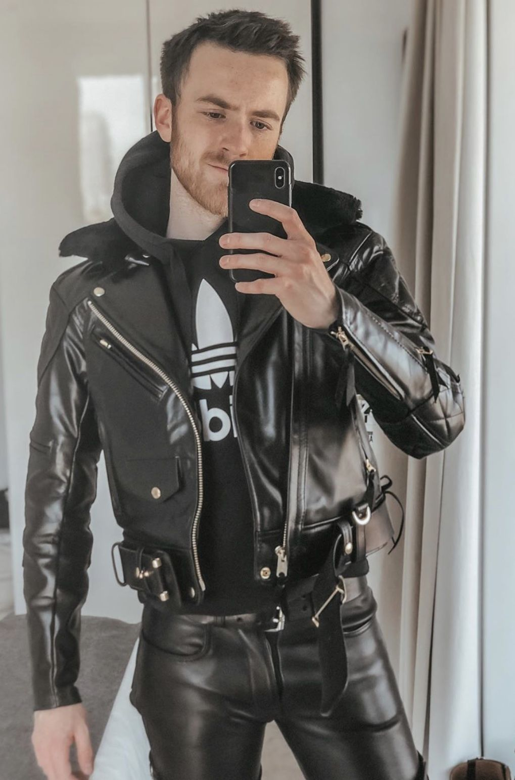Black Leather Jackets Black Leather Jackets Celebrity Style Celebrities Leather Pants Hermes Tom Ford Kyli Leather Jacket Men Mens Leather Pants Leather Outfit