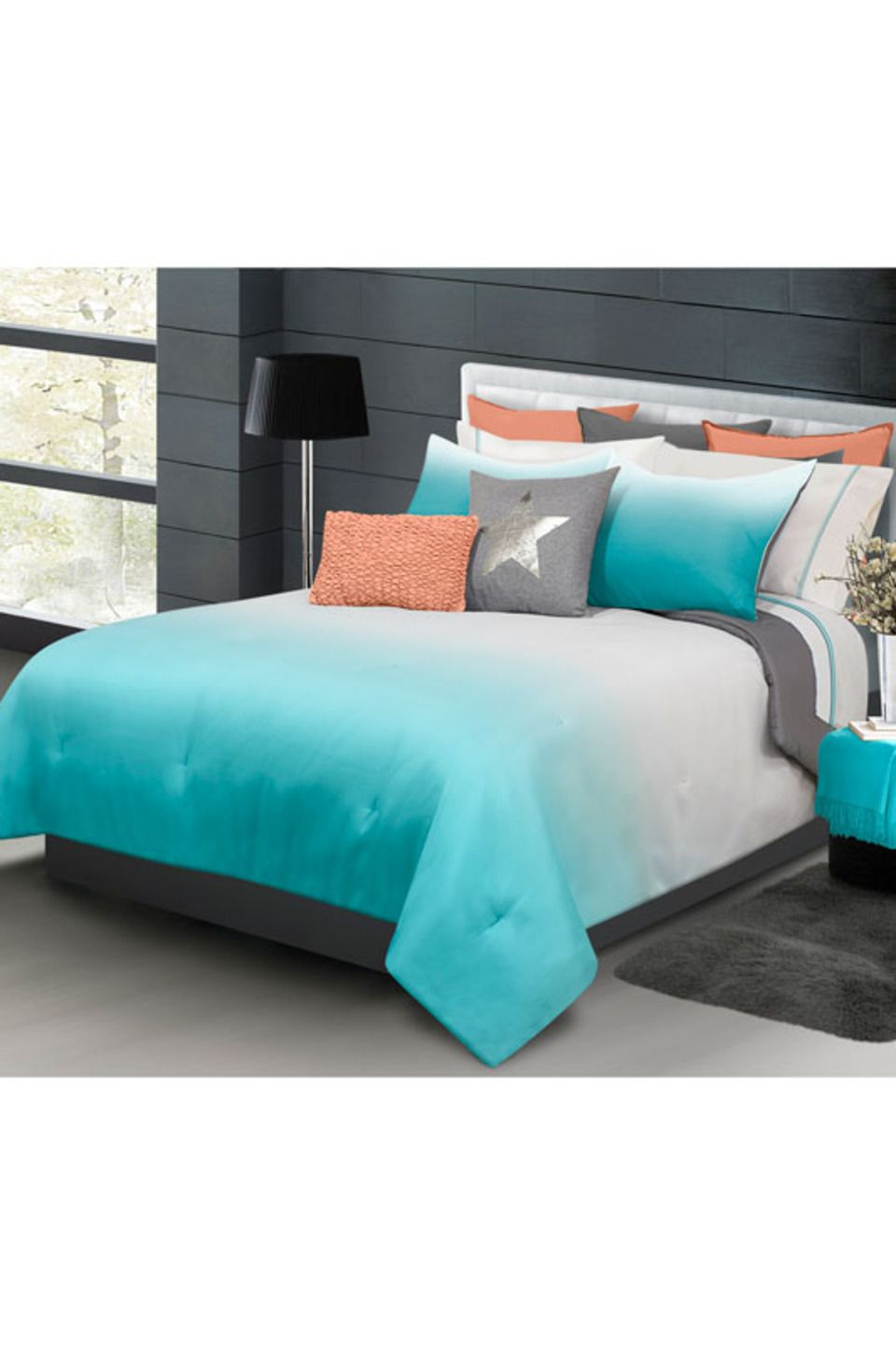 angle in or set taupe comforter queen cotton king piece blue ombre