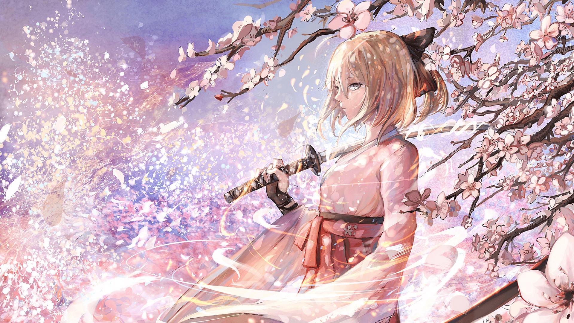 Sakura Saber 1920x1080 Hd Wallpaper From Gallsource Com