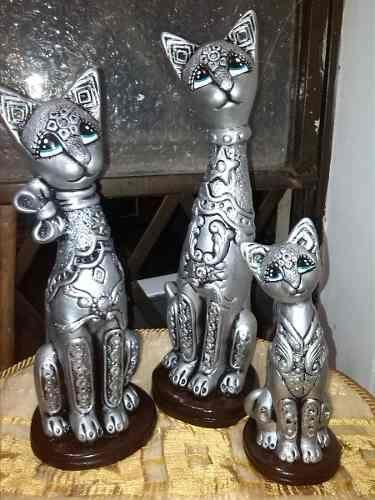 Lindas ceramicas gatos gatos ceramica pinterest for Bizcochos de ceramica