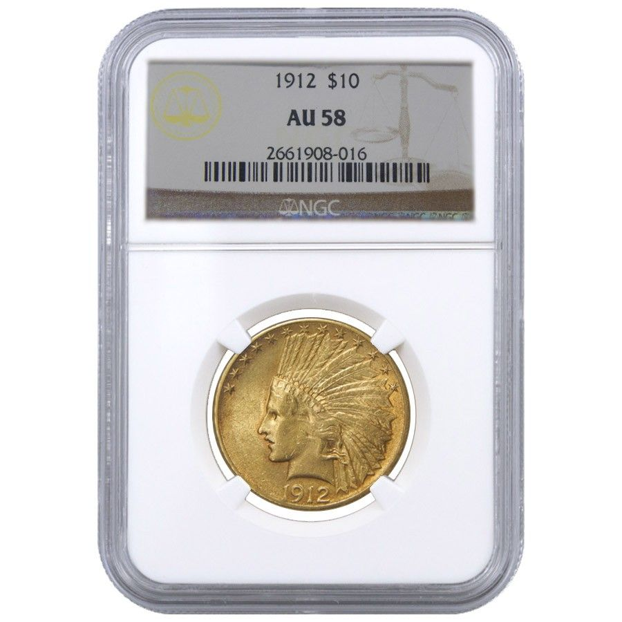 1912 10 Indian Head Eagle Gold Coin Ngc Au 58 Gold Eagle Coins Gold Coins Gold Eagle