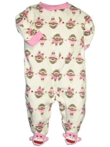 a0cabdb784 Sock Monkey Footied Sleeper by Baby Starters « Clothing Impulse ...