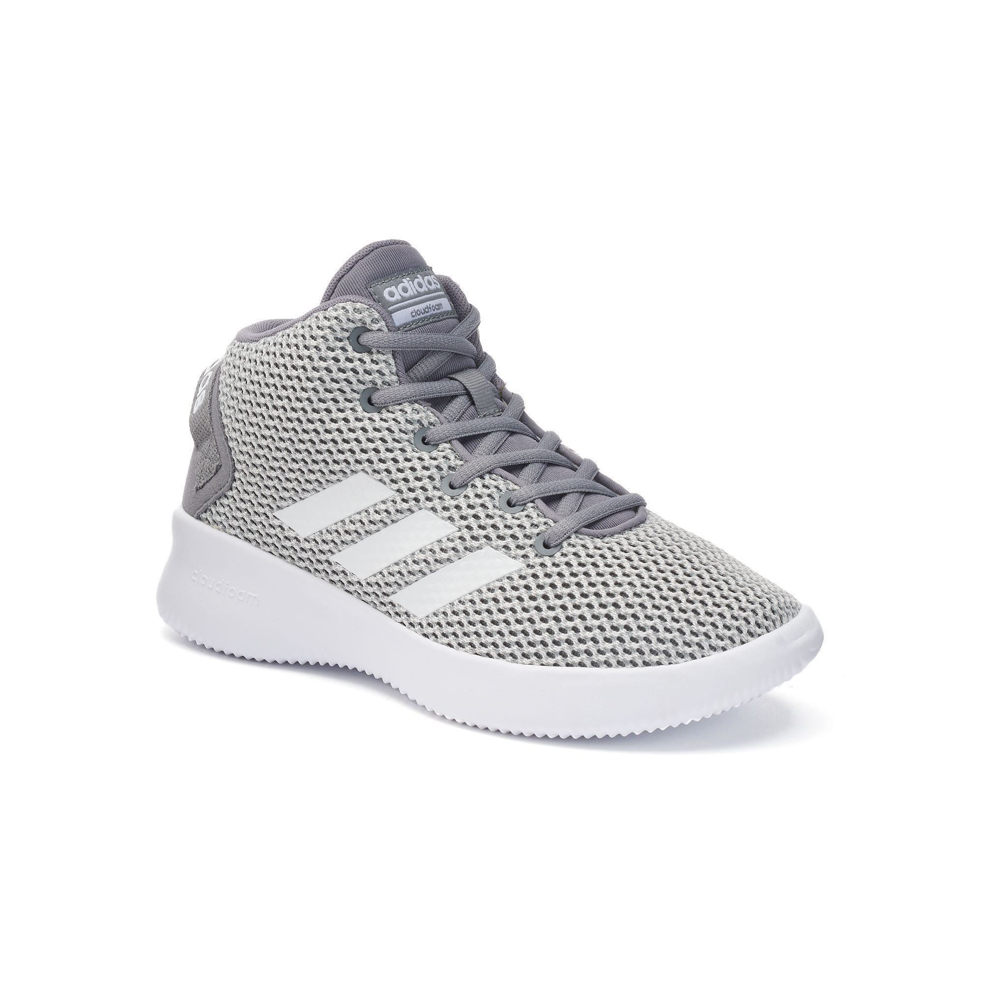 adidas neo cloudfoam footbed grey