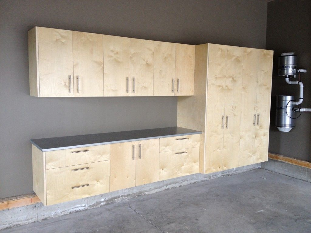 Garage Cabinets Real Birch Plywood Locally Made In Black Diamond Alberta Servicing Calgary Alberta Garage Cabinets Garage Storage Cabinets Birch Plywood
