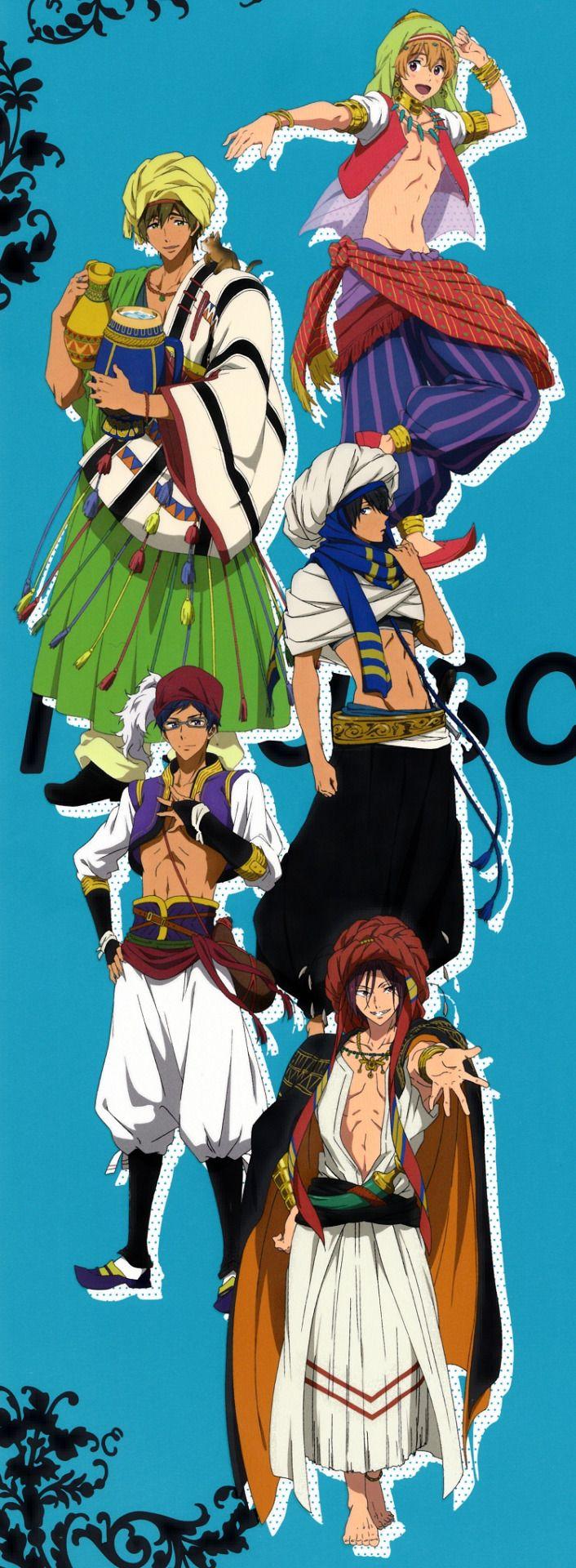 Nagisa, Makoto, Haruka, Rei and Rin ED 1 *^* Free