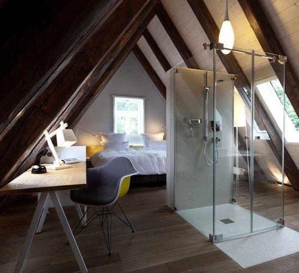 am nager ses combles la chambre d 39 adulte d co bathroom and laundry room pinterest. Black Bedroom Furniture Sets. Home Design Ideas