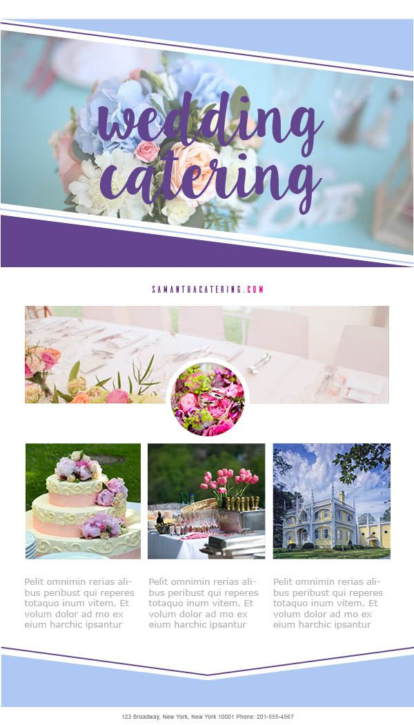 The Wedding Campaign #EmailTemplates for #Catering businesses - marketing email template