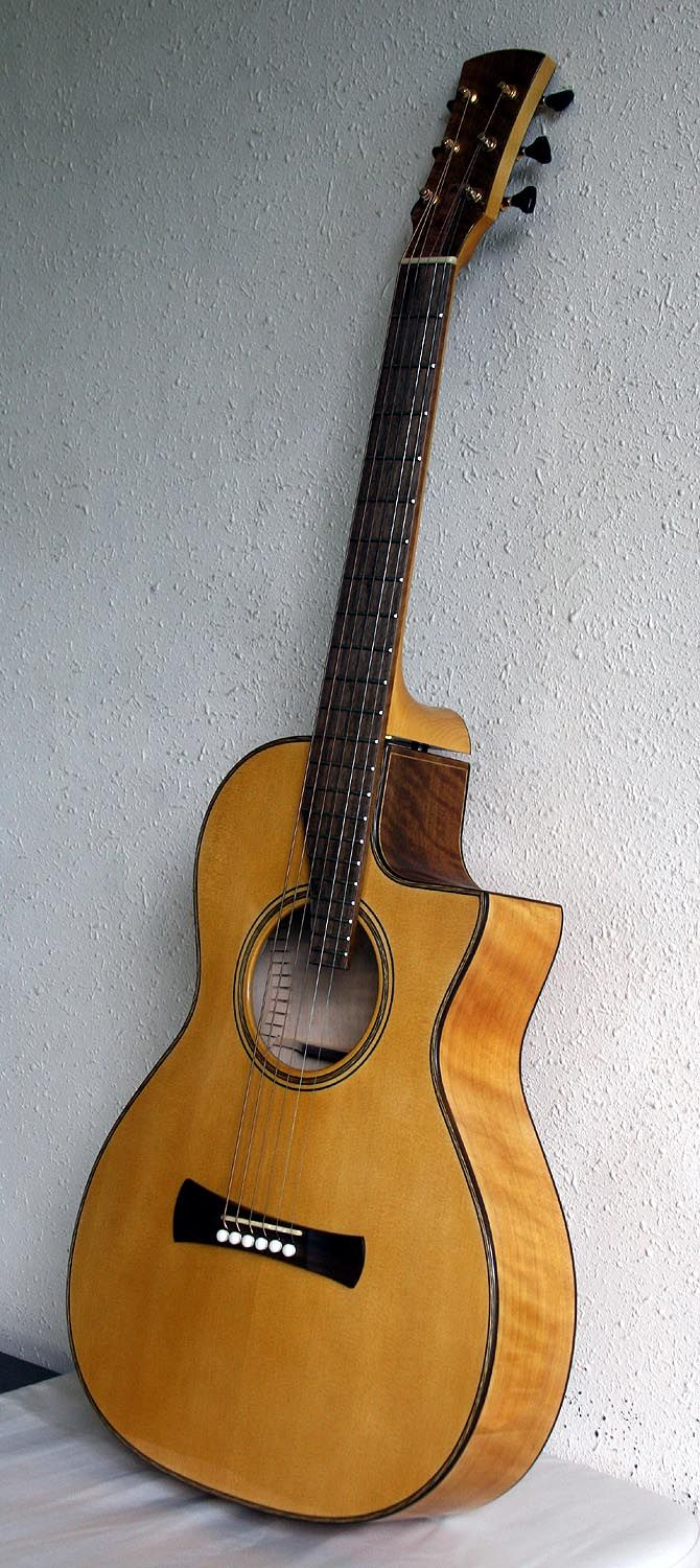 Here's an all Port Orford Cedar guitar by Laurent Brondel. Yup! Neck, back, sides and top! More details here: http://www.guitarbench.com/2010/12/19/2010-brondel-model-b-3-can/