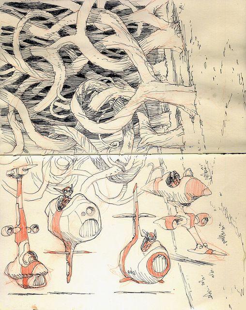 Sketchbook Page 02 by Jake Parker, via Flickr