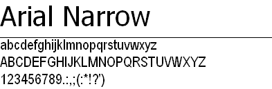 arial narrow