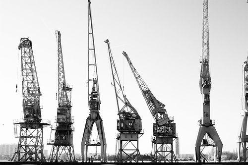 Antwerp harbour cranes | Flickr - Photo Sharing!