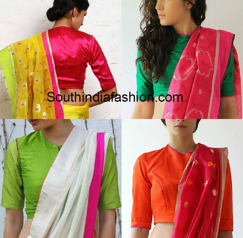 a48f68d90f Blouse Designs for Formal Sarees, office wear blouses, blouse patterns for  work wear, politicians, teachers, lawyers, indian formal blouse designs,