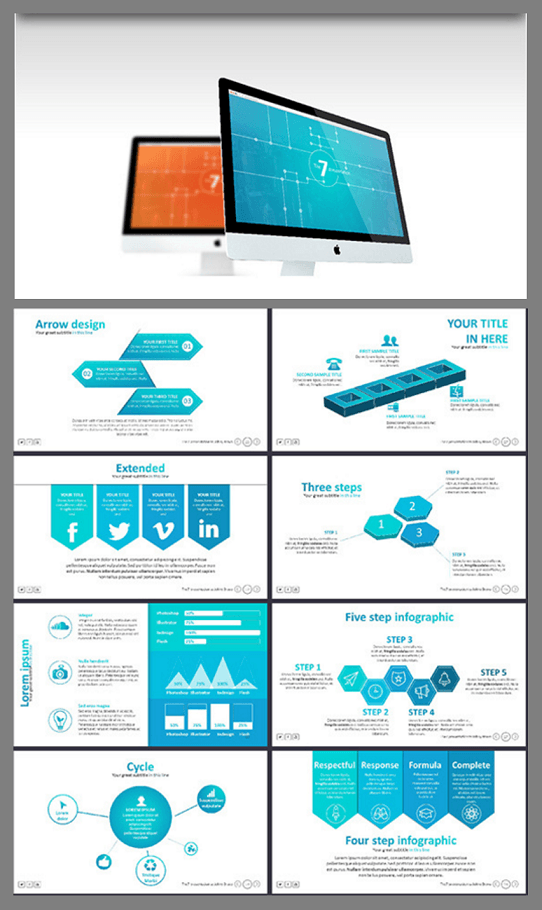 modern presentation template - modern powerpoint template | theme, Presentation templates