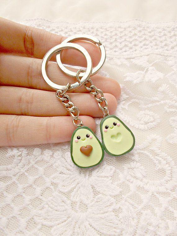 Avocado Best Friend Keychain Set - Best Friend Gift - Christmas Valentines Day B... Avocado Best Fr