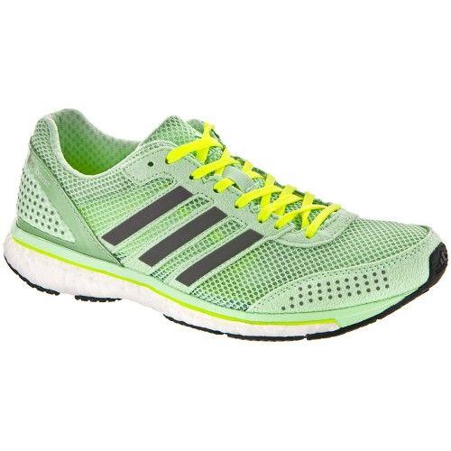 adidas adiZero Adios Boost 2 Women's Frozen Green/White : Holabird Sports