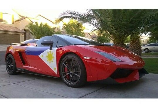 Manny Pacquiao Philippine Flag Lamborghini For The Love Of Our