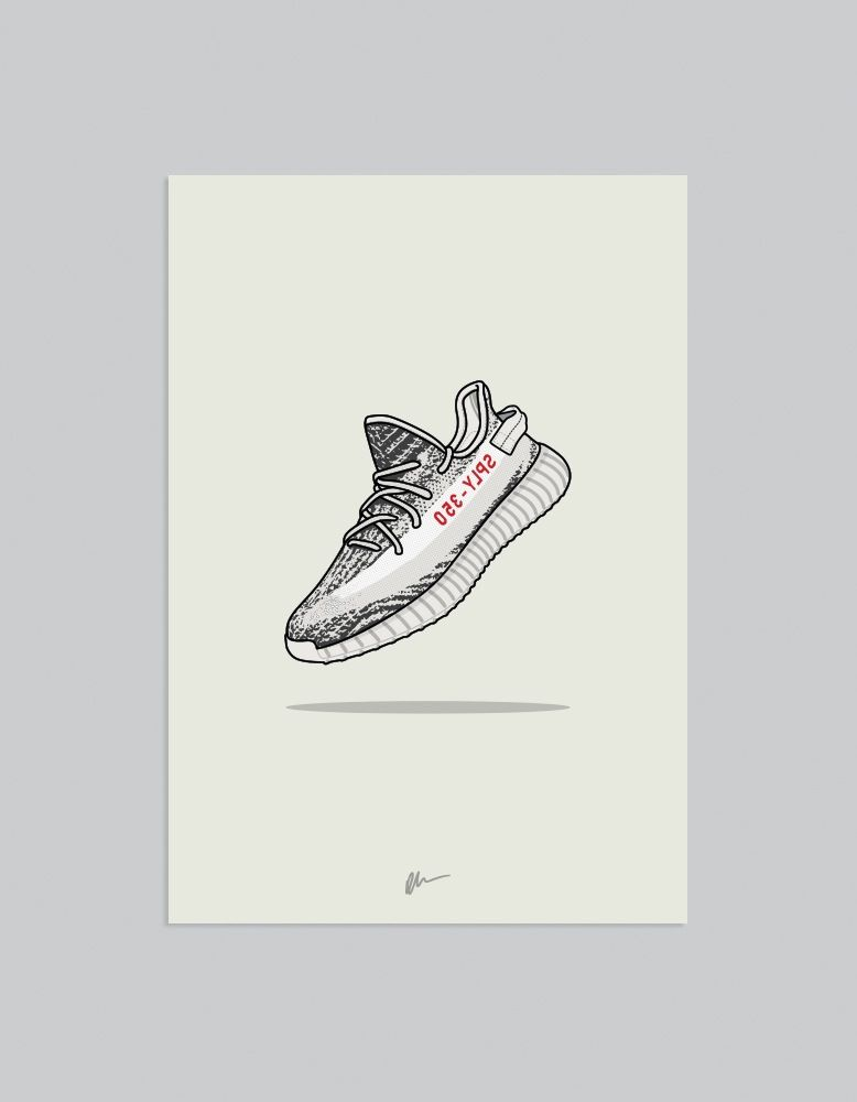 Artwork · Image of ☆ NEW ☆ Yeezy 350 v2 Zebra ...