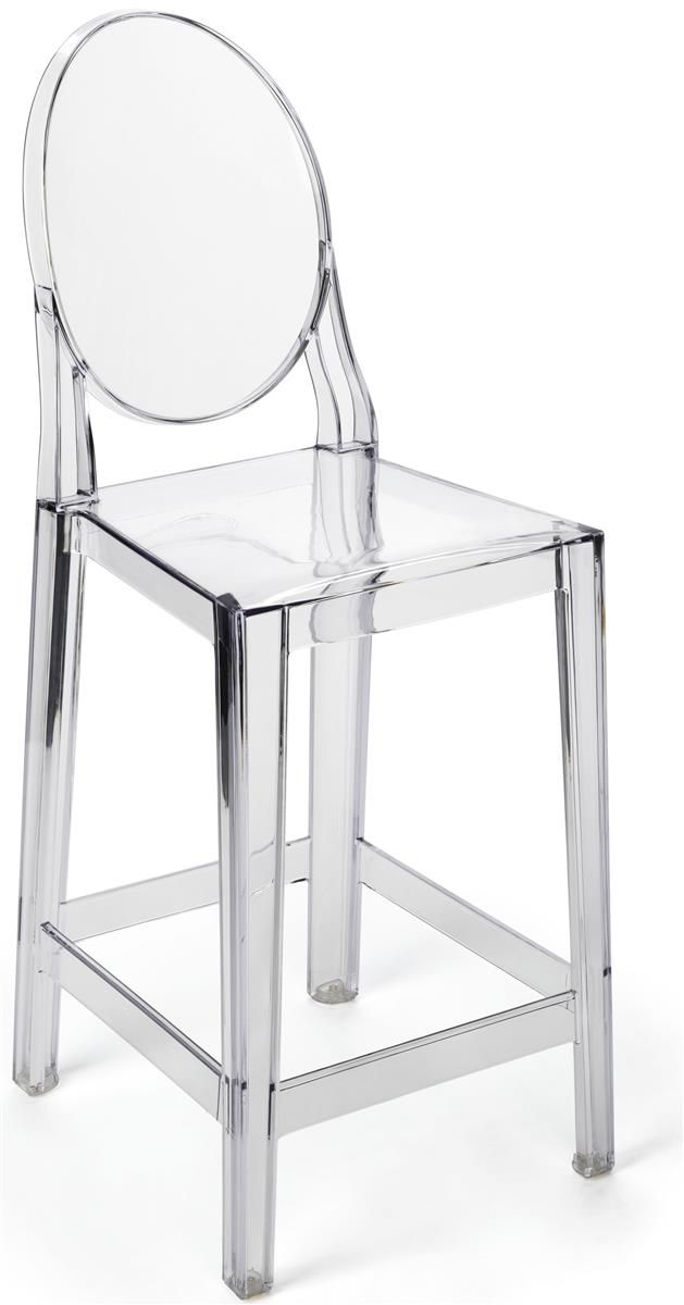 26 Counter Height Stool W Backrest Footrest Injected Polycarbonate Clear Counter Height Stools Foot Rest Stool