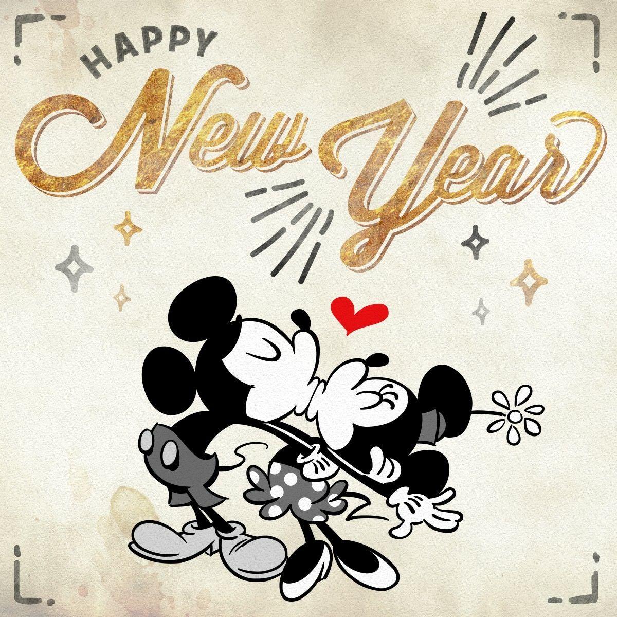 Happy New Year! Mickey & Minnie | dessins | Pinterest ...