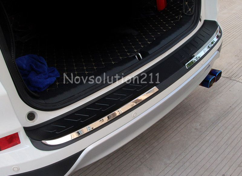 Auto ABS Plastic Rear Bumper Plate Cover Trim For Honda
