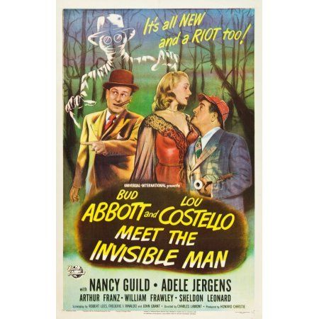 Abbott And Costello Meet The Invisible Man Canvas Art 24 X 36