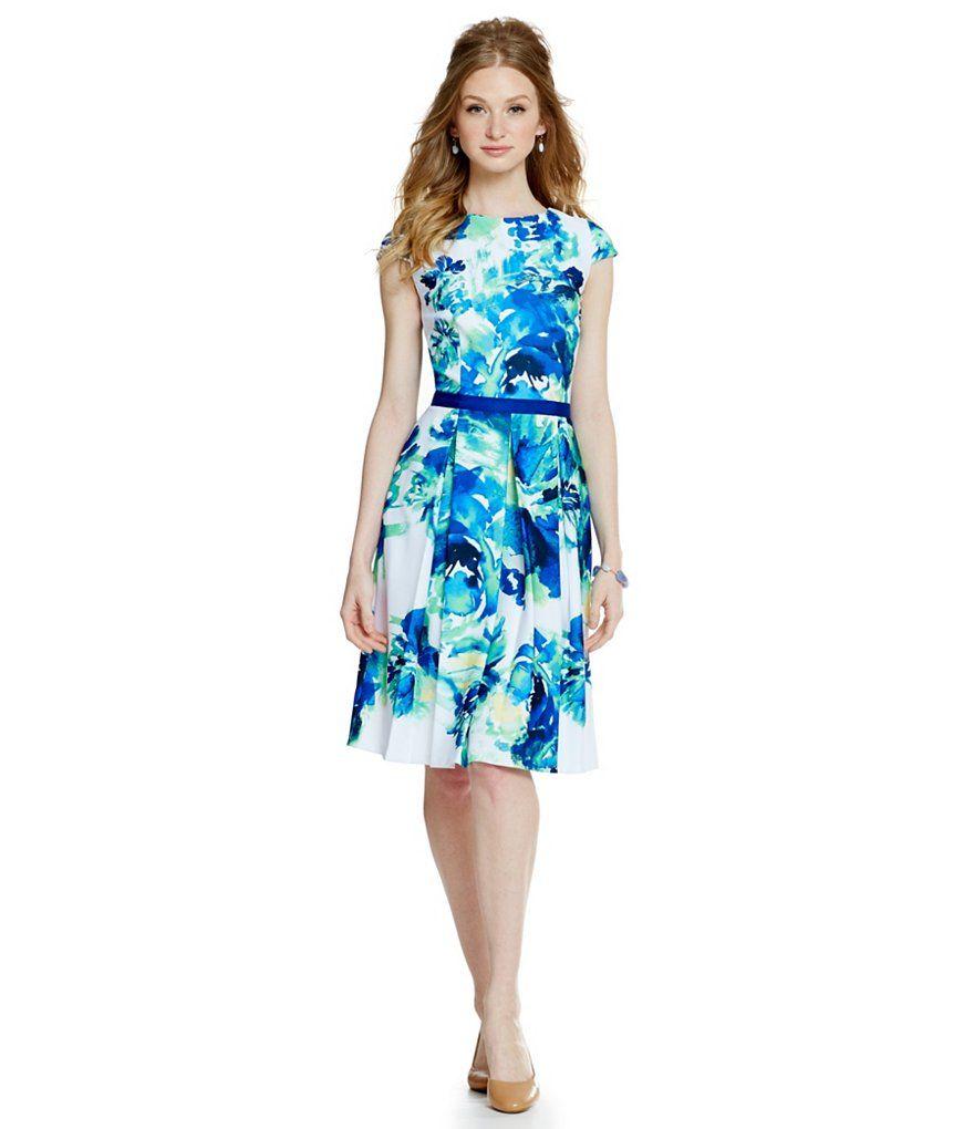 Alex Marie Spring Awakening Leah Floral Piqué A-Line Dress ...