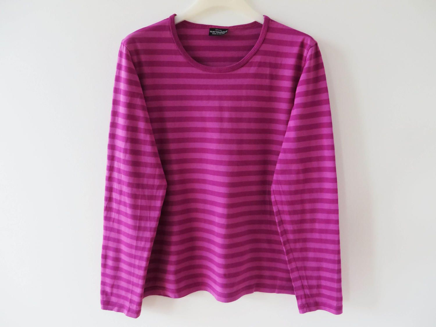 MARIMEKKO Shirt Pink Purple Striped Sailor Women Blouse Nautical ...