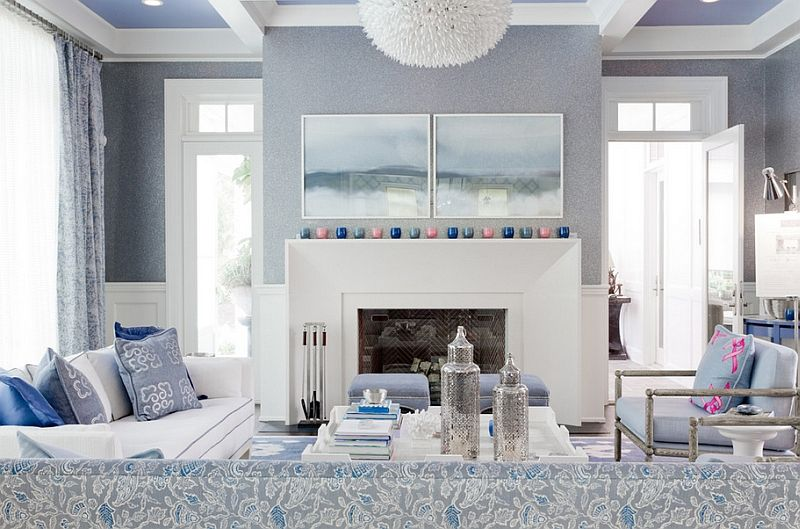 Surprising Blue And White Interiors Living Rooms Kitchens Bedrooms Home Interior And Landscaping Ologienasavecom