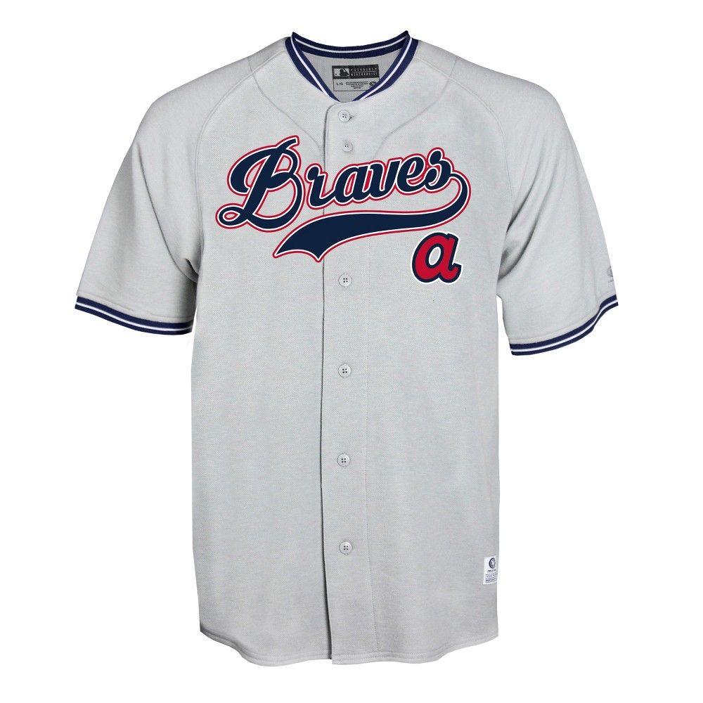 Atlanta Braves Gray Retro Team Jersey Xxl Atlanta Braves Cleveland Indians Houston Astros
