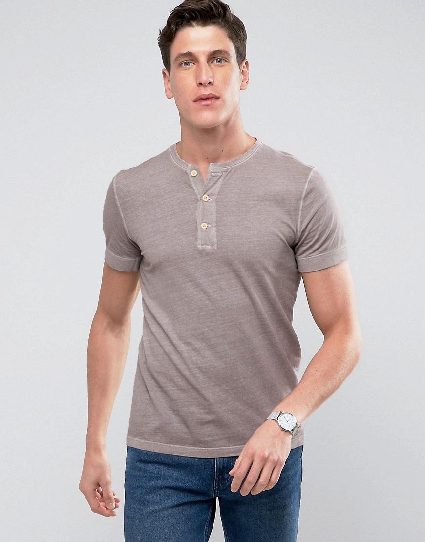 bf439a9e Abercrombie & Fitch Muscle Slim Fit Henley T-Shirt Rib Cuff Garment ...