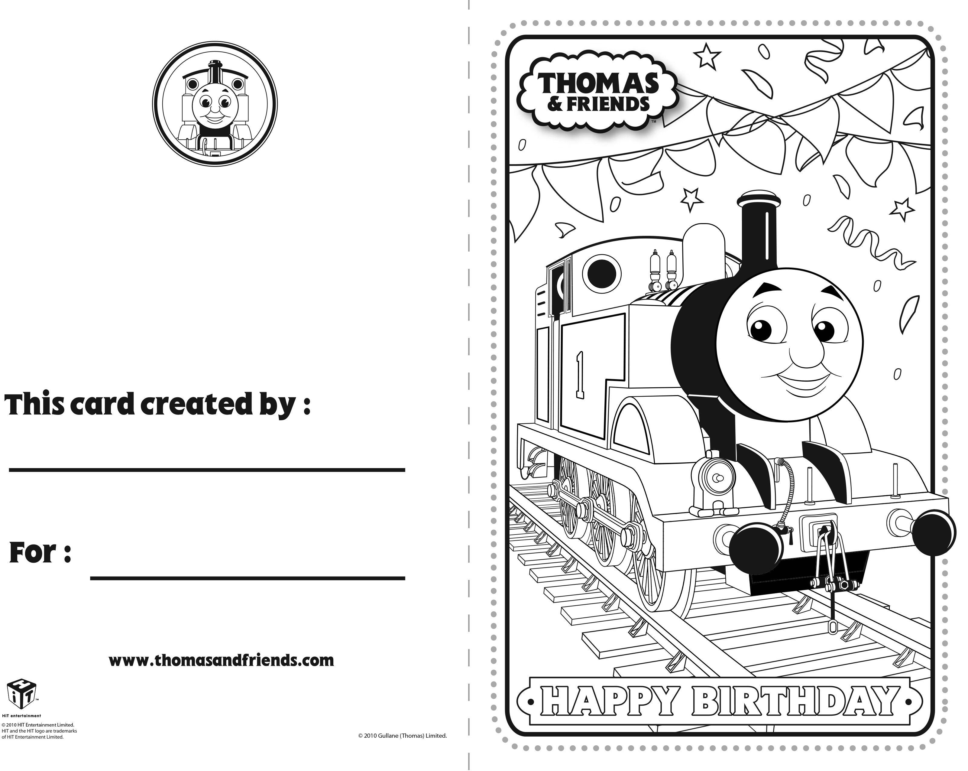 Thomas And Friends Birthday Card Thomas Thomasandfriends Thomasthetankengine Birthda Birthday Coloring Pages Birthday Cards For Friends Thomas And Friends