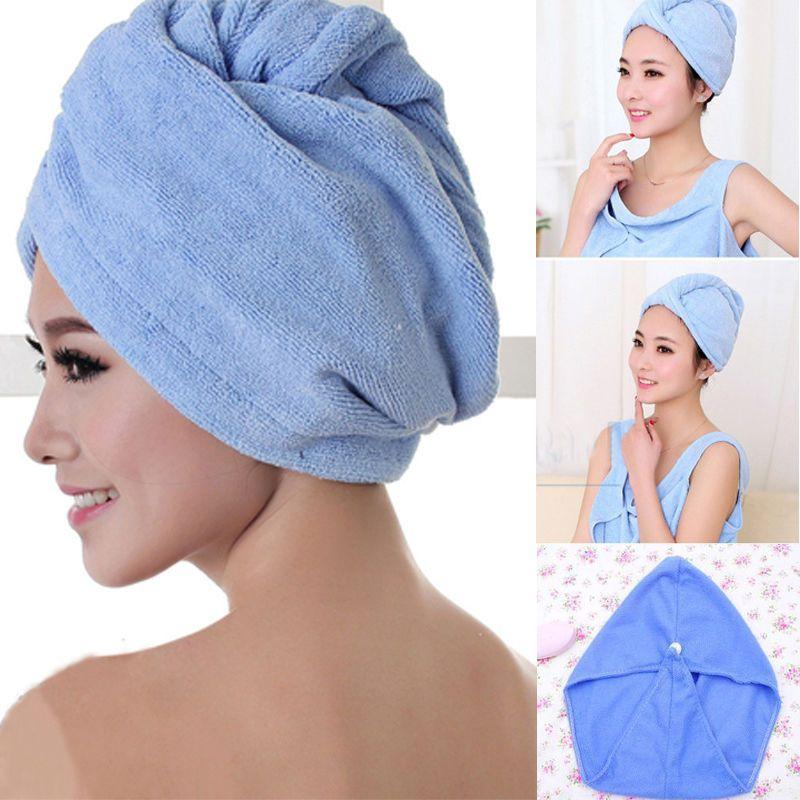 Hot Rapid Drying Hair Towel Quick Dry Magic Hair Turban Towel Bath Caps Hats