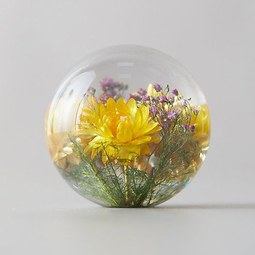 Photo of Resin Floral Paperweight