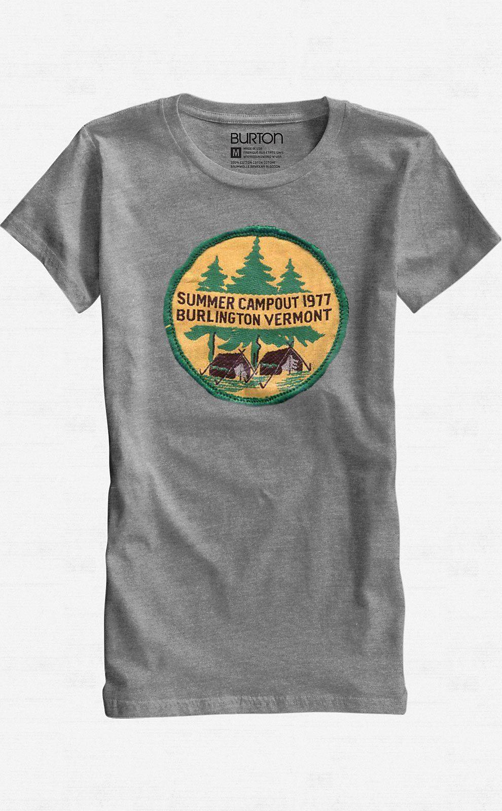 Burton Out T Shirt Snowboards Camp Short Womens Sleeve xqawYRF5
