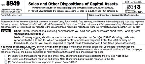 8949 tax form | irs | pinterest | capital gain and gain