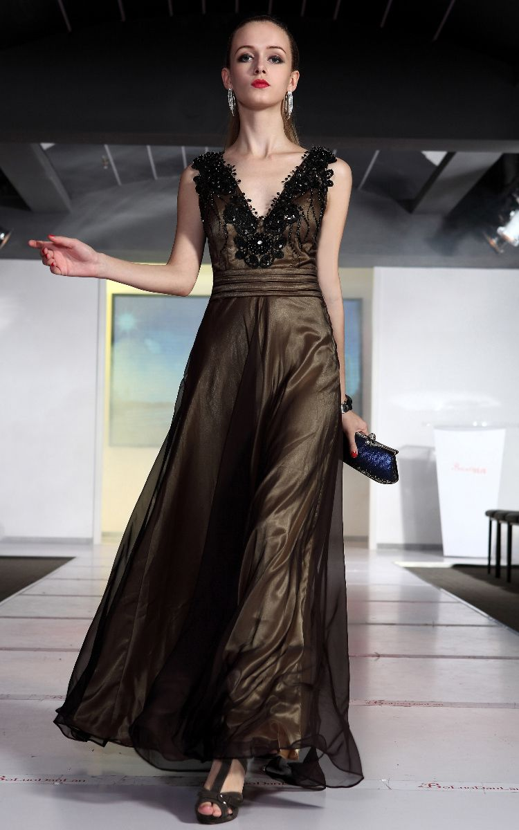 gold evening gown | Black and Gold Evening Gown [FI34VHFM] - $175.80 ...