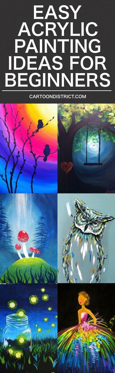 New Painting Ideas For Beginners Easy Acrylic 37+ Ideas ...
