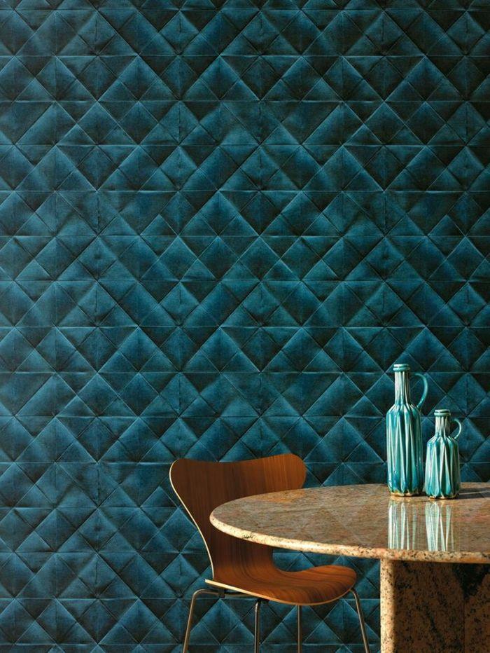 Le papier peint géométrique en 50 photos avec idéеs Wall galleries