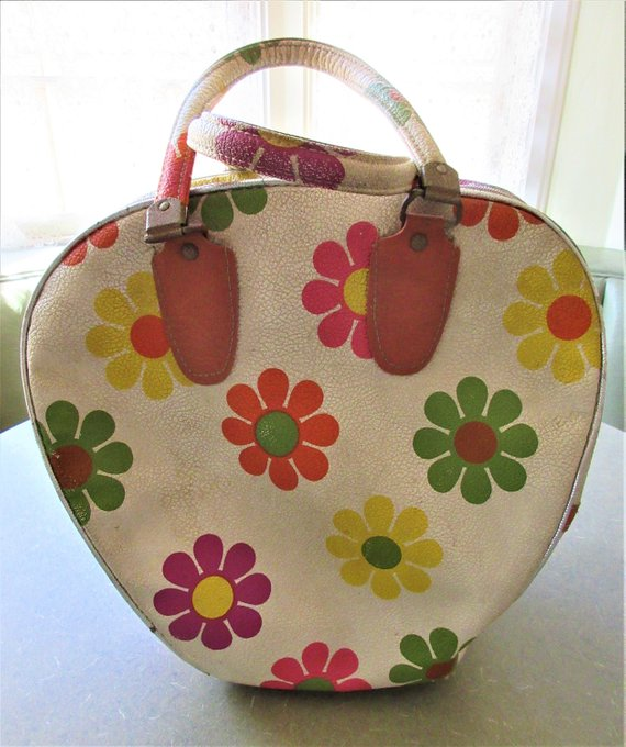 Vintage Bowling Bag Groovy Mod 1970s Bowling Ball Carrier Mod