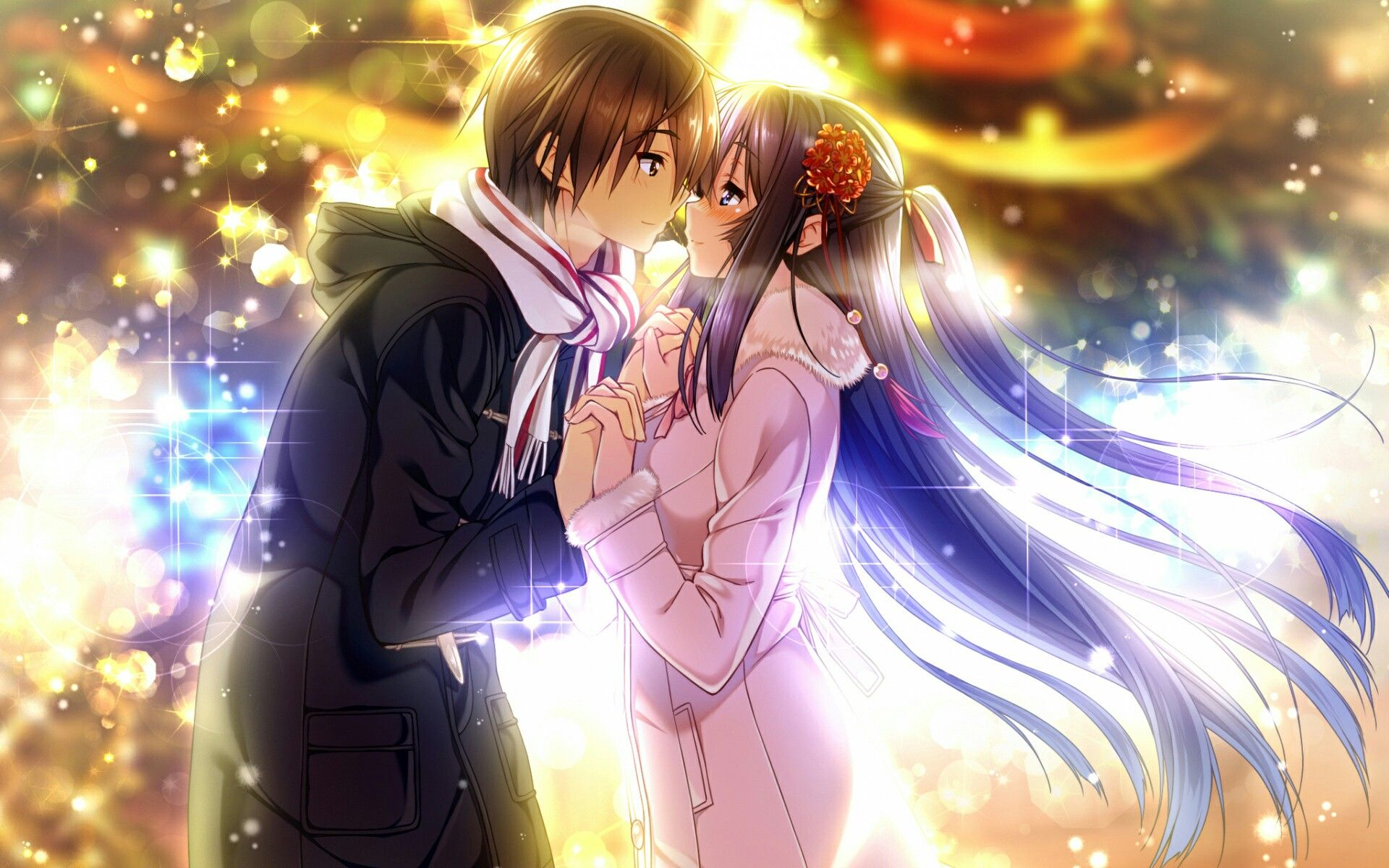 Картинки на аву любовь аниме