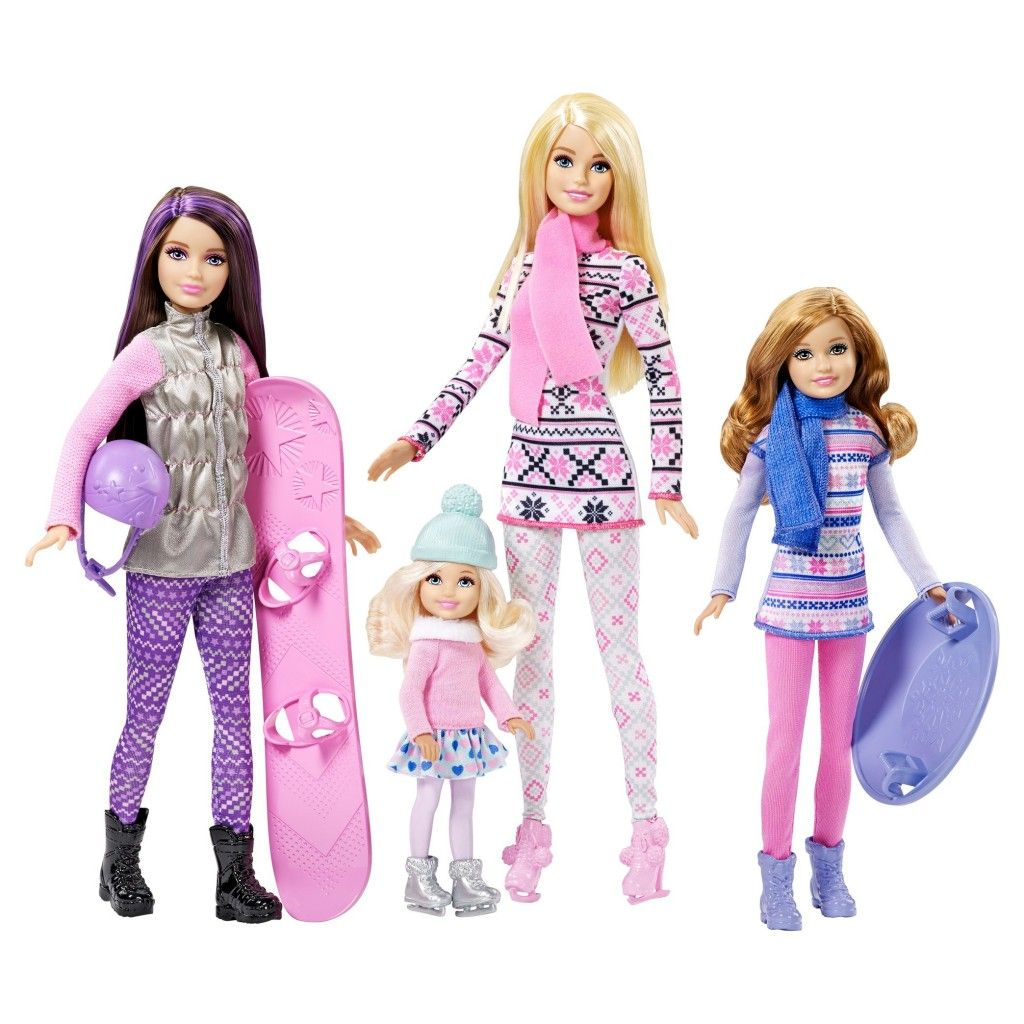Barbie deluxe furniture stovetop to tabletop kitchen doll target - Barbie Sisters Winter Fun Dolls New Playline Dolls And Sets Barbie Chelsea