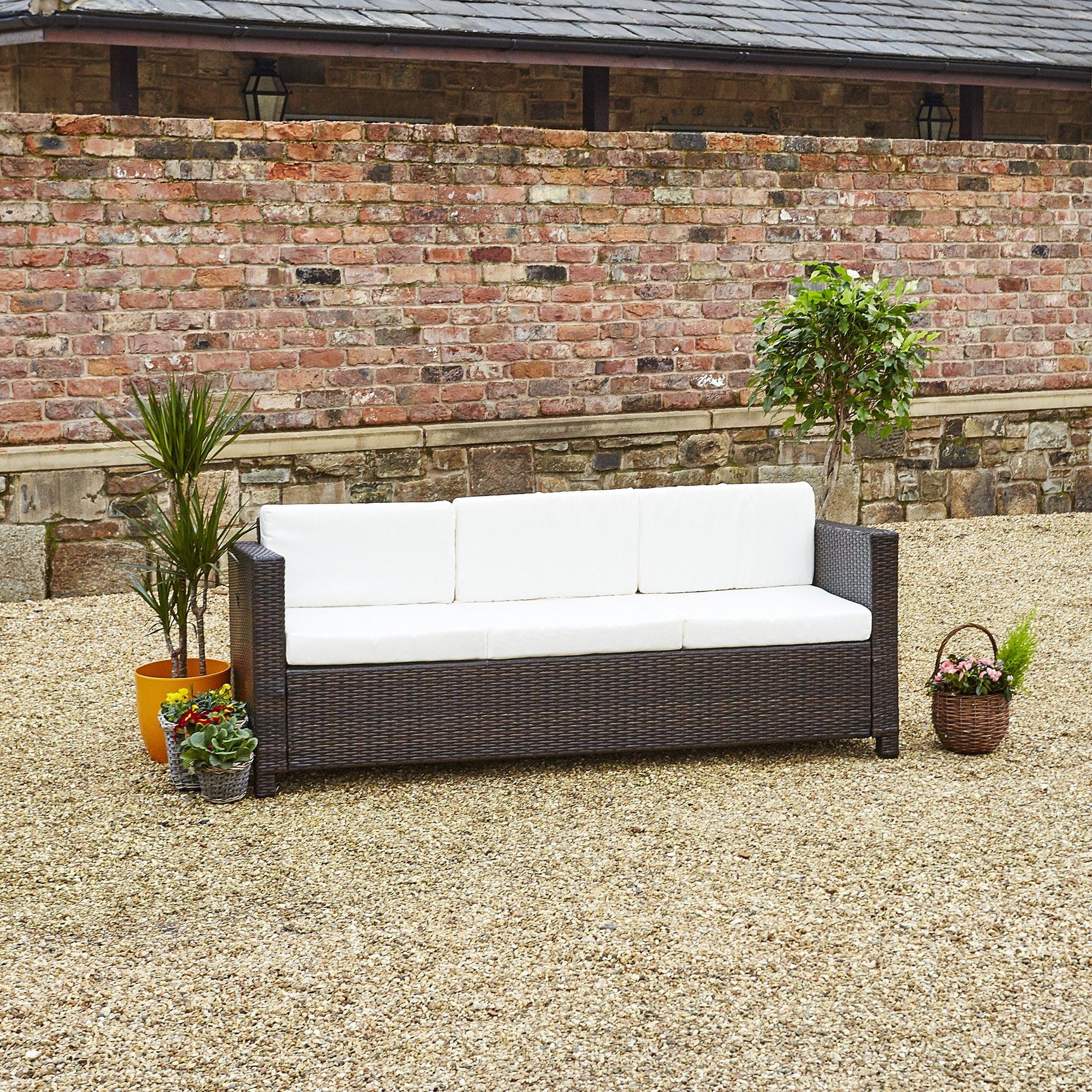 Rattan Garden Furniture From Abreo Brown Rattan Sofa Rattan