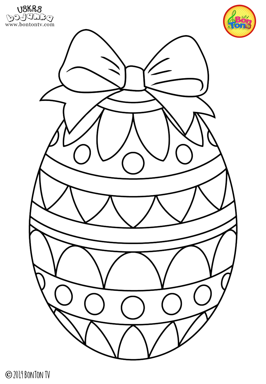 Free Easter Coloring Pages Uskrs Bojanke Za Djecu Free Printables Easter Bunny Eggs Chicks And More On Bonton Tv Coloring Kolorowanki Rekodzielo I Do Wydrukowania