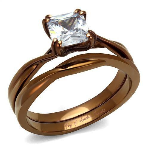 A Perfect 1CT Princess Cut Russian Lab Diamond Bridal Set Wedding Bands Ring