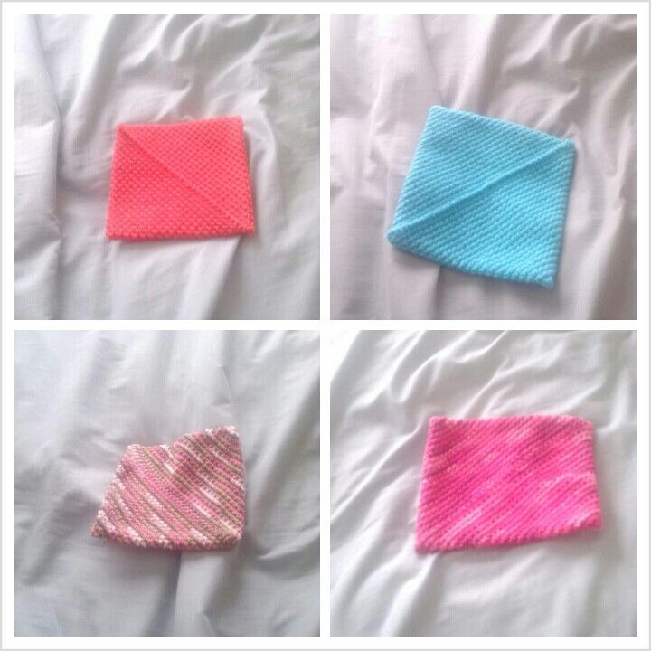 Different colors of pot holders