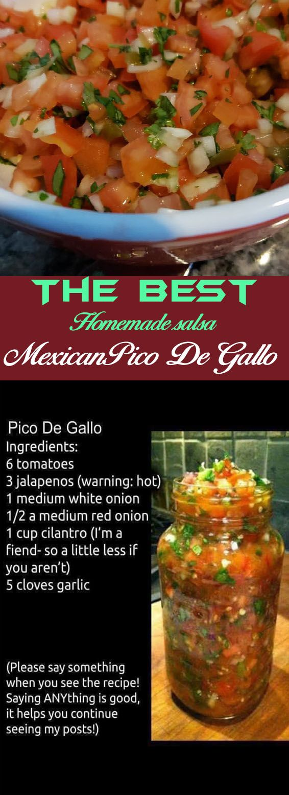 Easy Pico De Gallo Salsa #authenticmexicansalsa