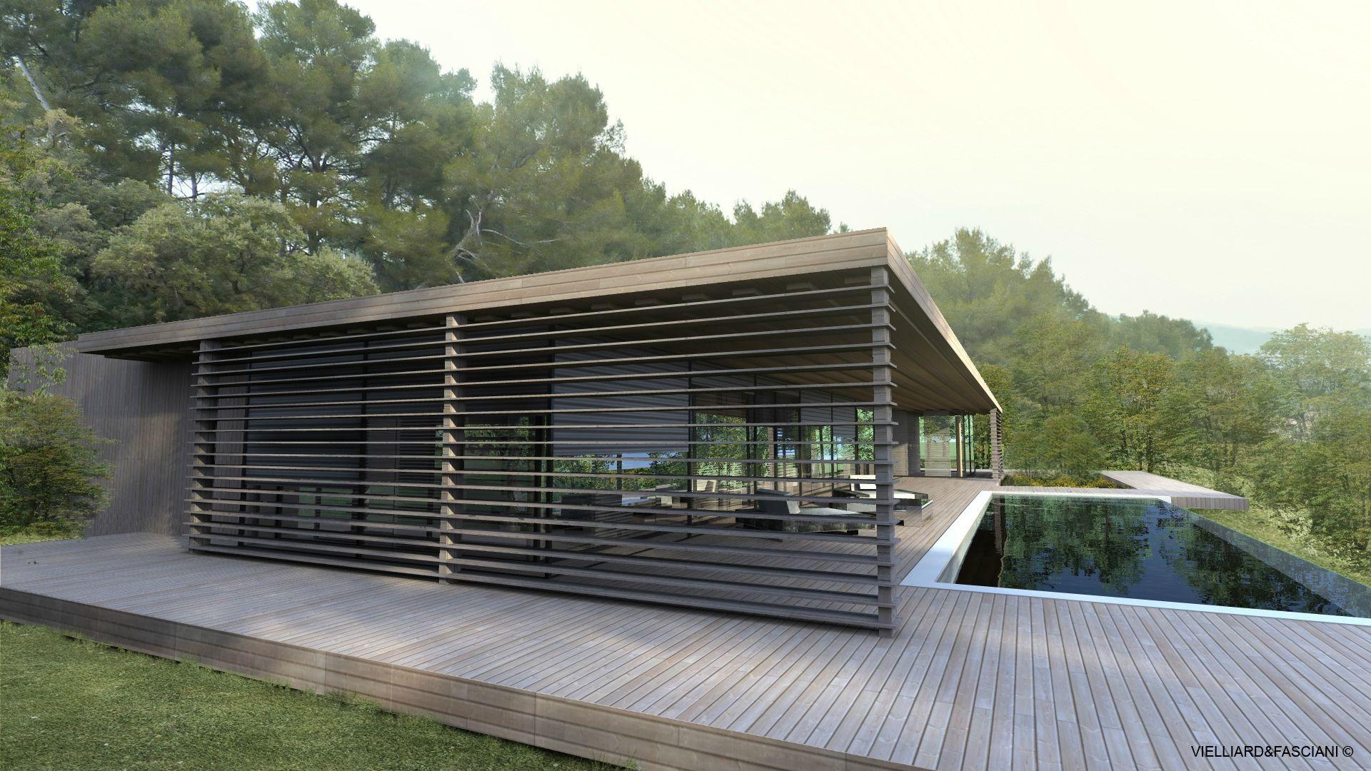 Maison contemporaine aix en provence villa contemporaine cote d 39 azur nice space house - Maison moderne bois ...